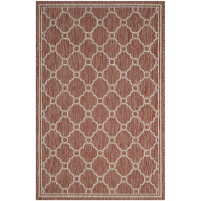 Rockbridge Red/Beige Indoor/Outdoor Area Rug Rug Size: 53 x 77