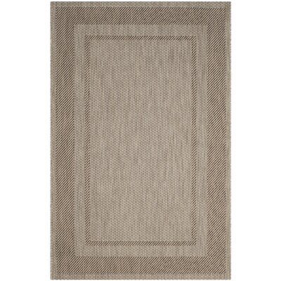 Rockbridge Beige/Black Indoor/Outdoor Area Rug Rug Size: Rectangle 4 x 57