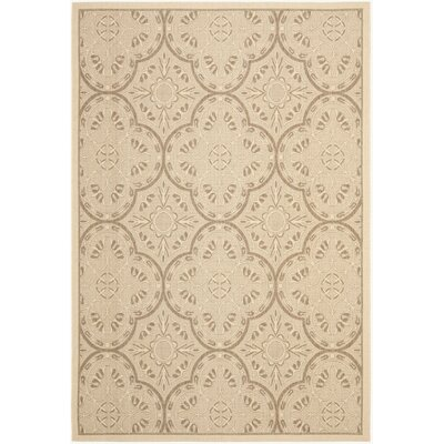 Rockbridge Cream/Light Chocolate Indoor/Outdoor Area Rug Rug Size: 67 x 96