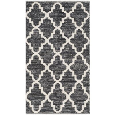 Valley Black/Ivory Area Rug Rug Size: 8' x 10'