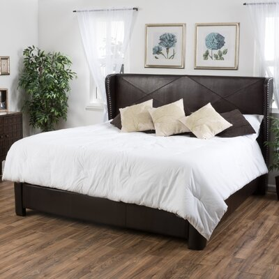 King Upholstered Panel Bed Size: Queen