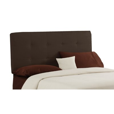 Lenora Button Upholstered Panel Headboard Size: Twin, Color: Chocolate