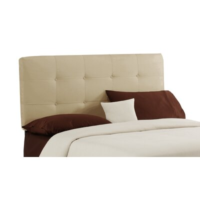 Willard Button Upholstered Panel Headboard Size: Twin, Finish: Buckwheat