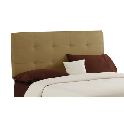 Lenora Button Upholstered Panel Headboard Size: Full, Color: Honey