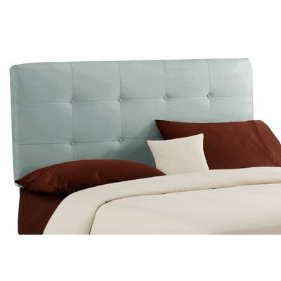 Willard Button Upholstered Panel Headboard Size: Twin, Finish: Pool