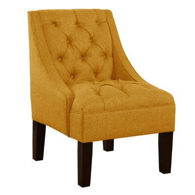 Mystere Armchair Upholstery: Linen French Yellow