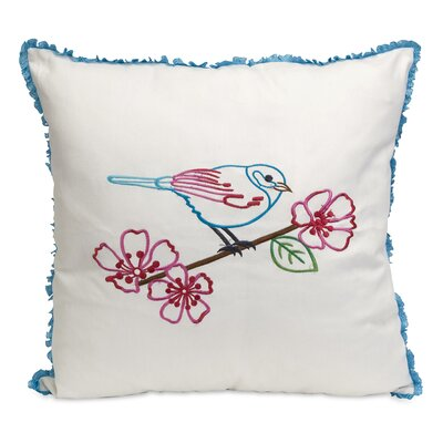 Clora Embroidered Cotton Throw Pillow
