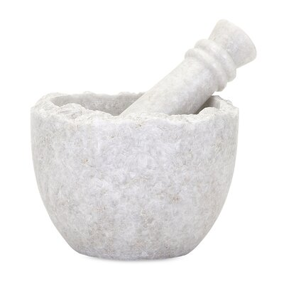 Alcott Hill Marble Mortar and Pestle