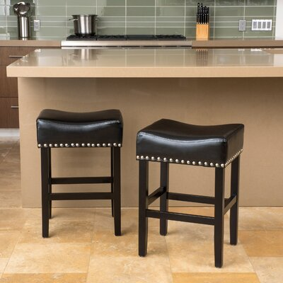 26 Bar Stool Color: Chocolate Brown