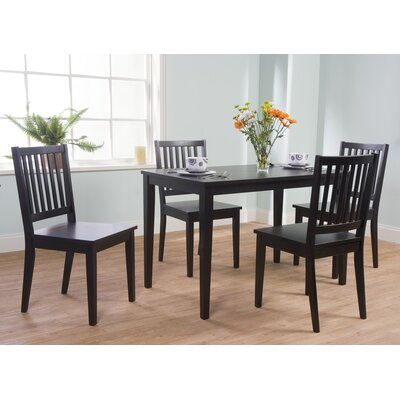 Windham 5 Piece Dining Set Finish Black