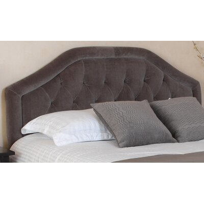 Brook Farm King Upholstered Panel Headboard Upholstery: Dark Grey