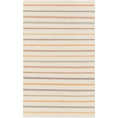 Nashville Hand-Woven Beige Area Rug Rug Size: Rectangle 4 x 6