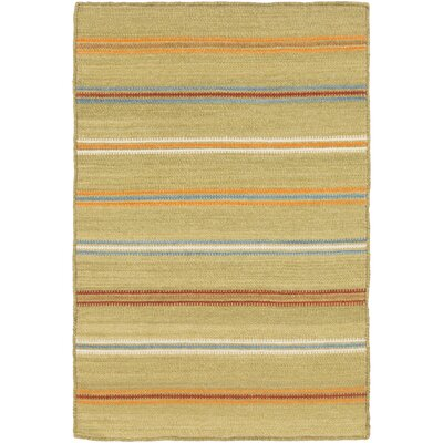 Nashville Olive/Burnt Orange Area Rug Rug Size: 2 x 3