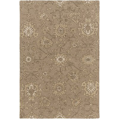 Langport Hand-Tufted Brown Area Rug Rug Size: Rectangle 4 x 6