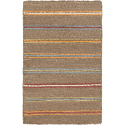 Nashville Hand-WovenBrown Area Rug Rug Size: Rectangle 2' x 3'