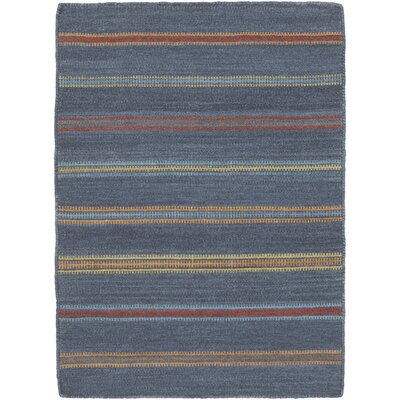 Nashville Hand-Woven Navy Area Rug Rug Size: Rectangle 4 x 6