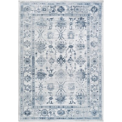 Broadview Blue Area Rug Rug Size: 78 x 106