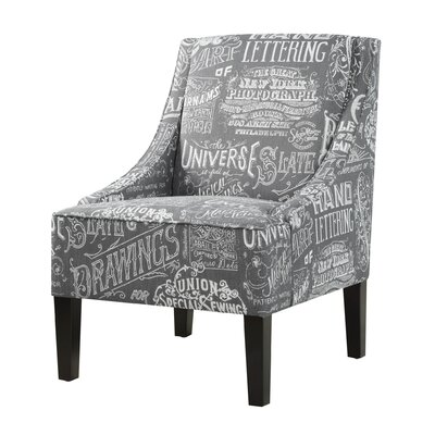 Chalkboard Shadow Upholstered Slipper Chair