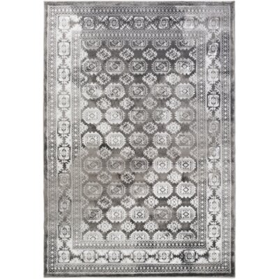 Broadview Gray Area Rug Rug Size: 22 x 3