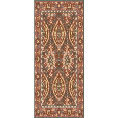 Pottershill Hand-Tufted Burgundy/Olive Area Rug Rug Size: Runner 26 x 8