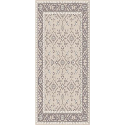 Pottershill Hand-Tufted Beige/Charcoal Area Rug Rug Size: Runner 26 x 8