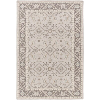 Pottershill Hand-Tufted Beige/Charcoal Area Rug Rug Size: Rectangle 6 x 9