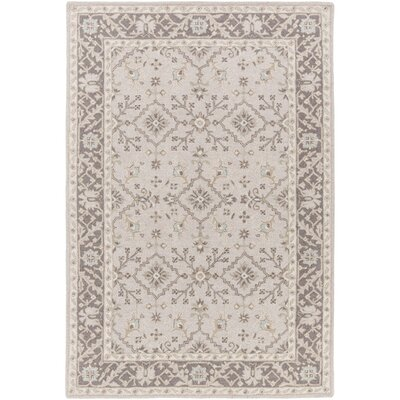 Pottershill Hand-Tufted Beige/Charcoal Area Rug Rug Size: Rectangle 8 x 10
