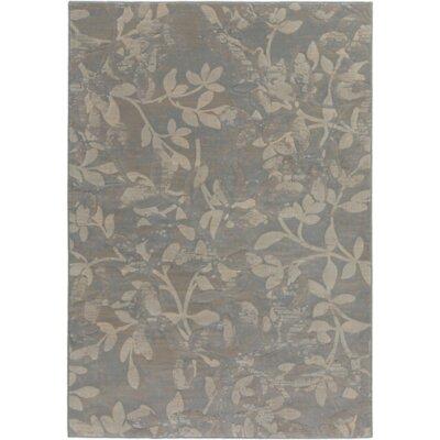 Franklin Gray/Beige Area Rug Rug Size: 53 x 77