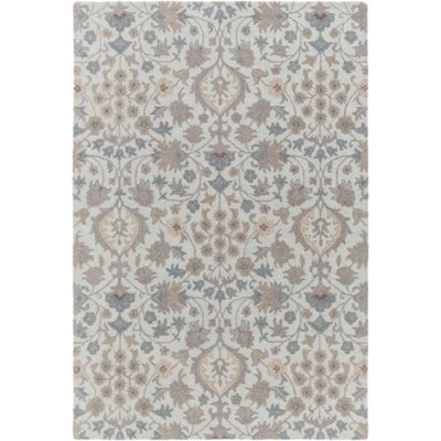 Pottershill Moss & Gray Area Rug Rug Size: 5 x 76