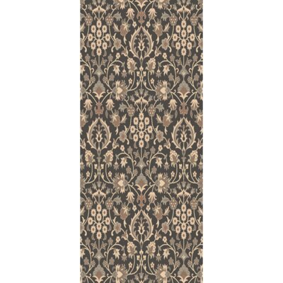 Pottershill Black/Light Gray Area Rug Rug Size: Runner 26 x 8
