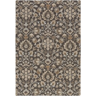 Pottershill Black/Light Gray Area Rug Rug Size: 2 x 3