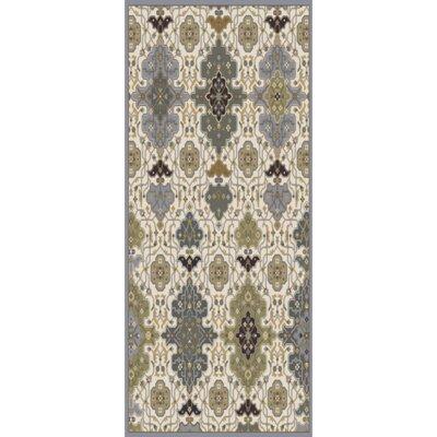 Pottershill Hand-Tufted Slate/Olive Area Rug Rug Size: Runner 26 x 8