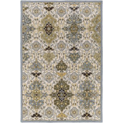 Pottershill Hand-Tufted Slate/Olive Area Rug Rug Size: Rectangle 4 x 6