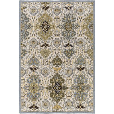Pottershill Hand-Tufted Slate/Olive Area Rug Rug Size: Rectangle 2 x 3