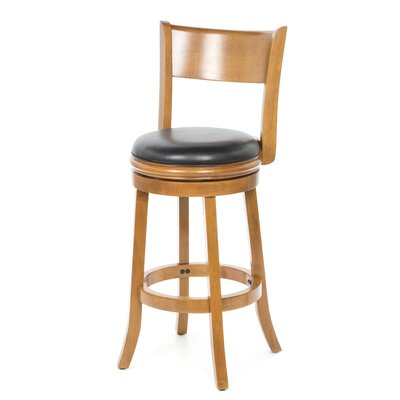 Shiloh 29 Swivel Bar Stool Bar Stool Finish: Fruitwood
