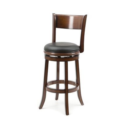 Shiloh 29 Swivel Bar Stool Bar Stool Finish: Brandy