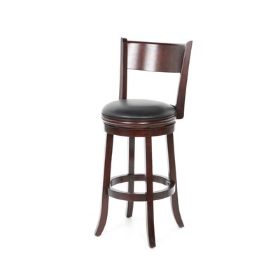 Shiloh 29 Swivel Bar Stool Bar Stool Finish: English Tudor