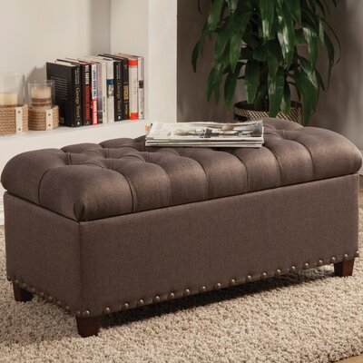 Henderson Upholstered Storage Bedroom Bench Color: Mocha