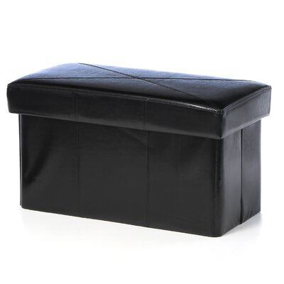 Chatham Leather Storage Ottoman Upholstery: Black