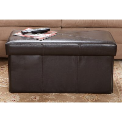 Chatham Leather Storage Ottoman Upholstery: Espresso