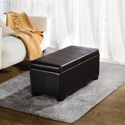 Hampshire Leather Storage Ottoman