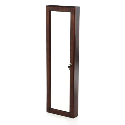 Chauncey Wall-Mounted Jewelry Armoire with  Mirror Finish: Warm Walnut