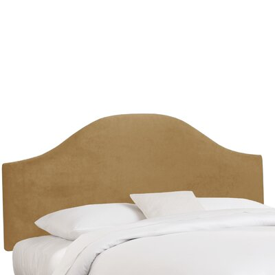 Mystere Upholstered Panel Headboard Color: Moccasin, Size: California King