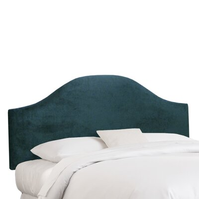 Mystere Upholstered Panel Headboard Color: Peacock, Size: Queen
