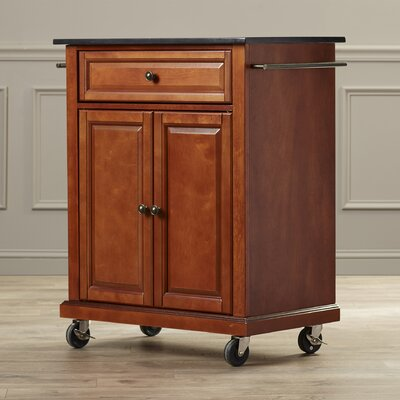 Celeste Kitchen Cart with Granite Top Base Finish: Classic Cherry