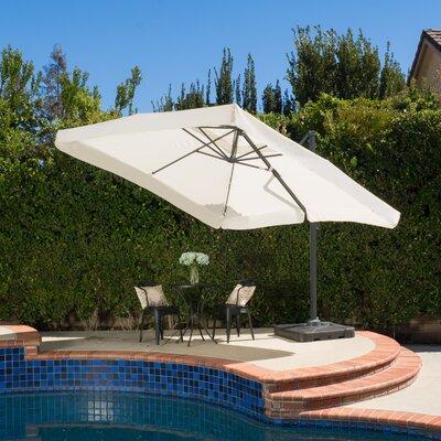 Mendon 10' Square Cantilever Umbrella Color: Beige