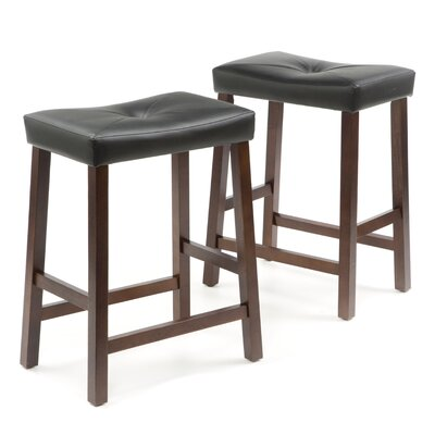 Newark 24 inch Bar Stools with Cushion Finish: Vintage Mahogany