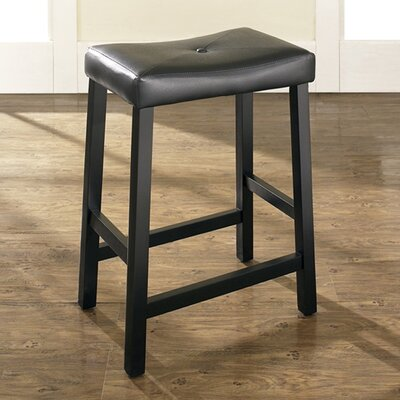 Newark 24 inch Bar Stools with Cushion Finish: Black