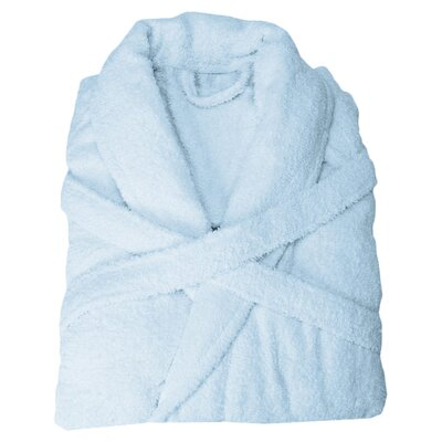 Superior Bathrobe Color: Medium Blue, Size: Extra Large
