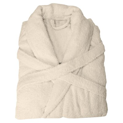 Patric Bathrobe Size: Large, Color: Ivory